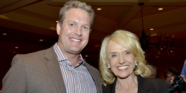 Clint Hickman and Governor Jan Brewer
