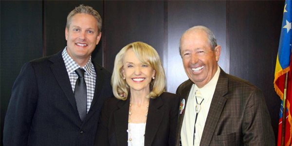 Supervisor Clint Hickman, Governor Jan Brewer, former Supervisor Max Wilson